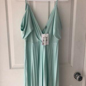 NEW ASOS mint green maxi dress